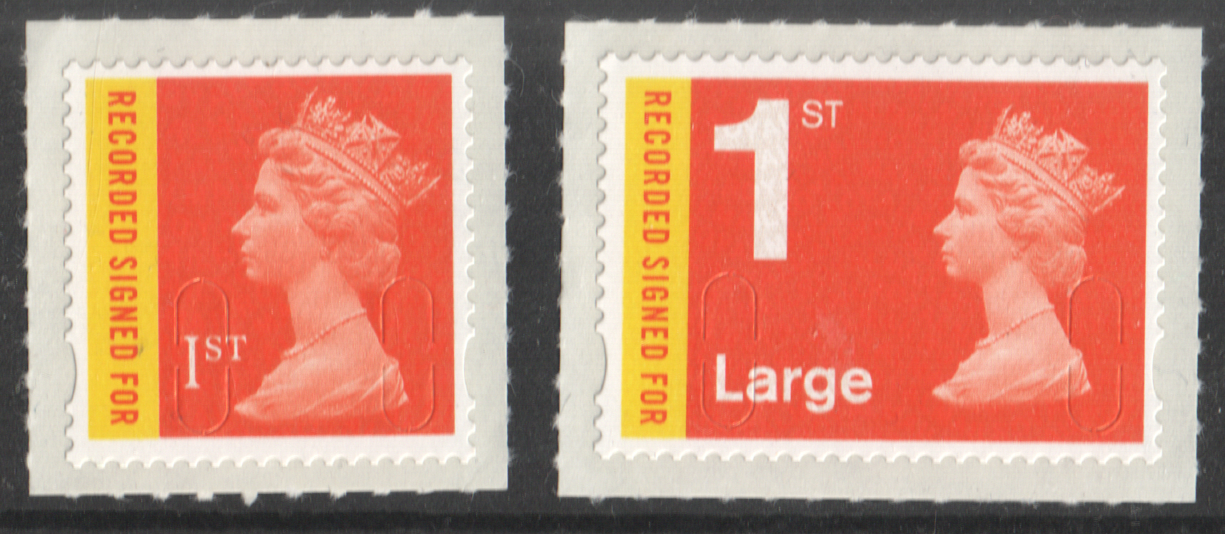U3045 / 46 No Date Code 2009 1st & 1st Large Recorded Signed For Machins