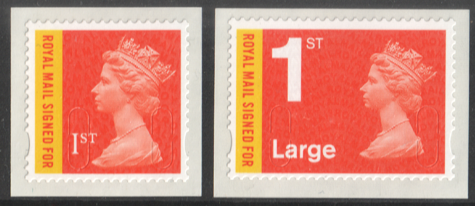 U3049 / 50 Royal Mail Signed For MA13 1st Class & 1st Large Unmounted Mint