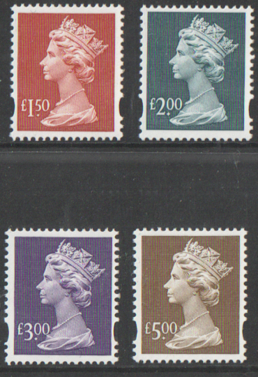 Y1800 / 03 Recess High Value Machins unmounted set of 4