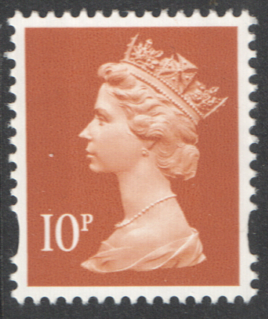 DG100.16 10p Light Tan 25-NOV-94 Left Margin Machin Warrant 063 Block of 10