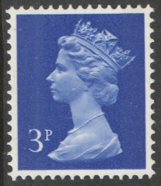 1971 3p Ultramarine OCP(H) / PVAl Cyl 2 (L2) no dot Machin Cylinder Block