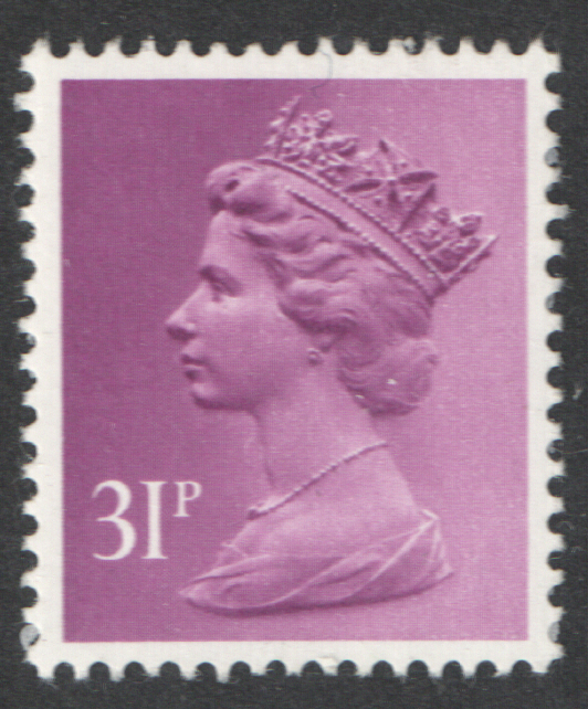 1983 31p Lilac PCP/DEX Cyl 2 dot Machin Cylinder Block