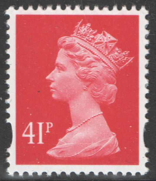 41p Red 06/11/02 Right Margin Machin Warrant Block of 8