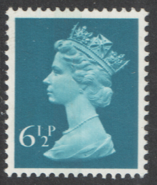 1975 6.5p Cerulean Blue FCP(H) / DEX Centre Band Cyl 11 (18) no dot Machin Cylinder Block
