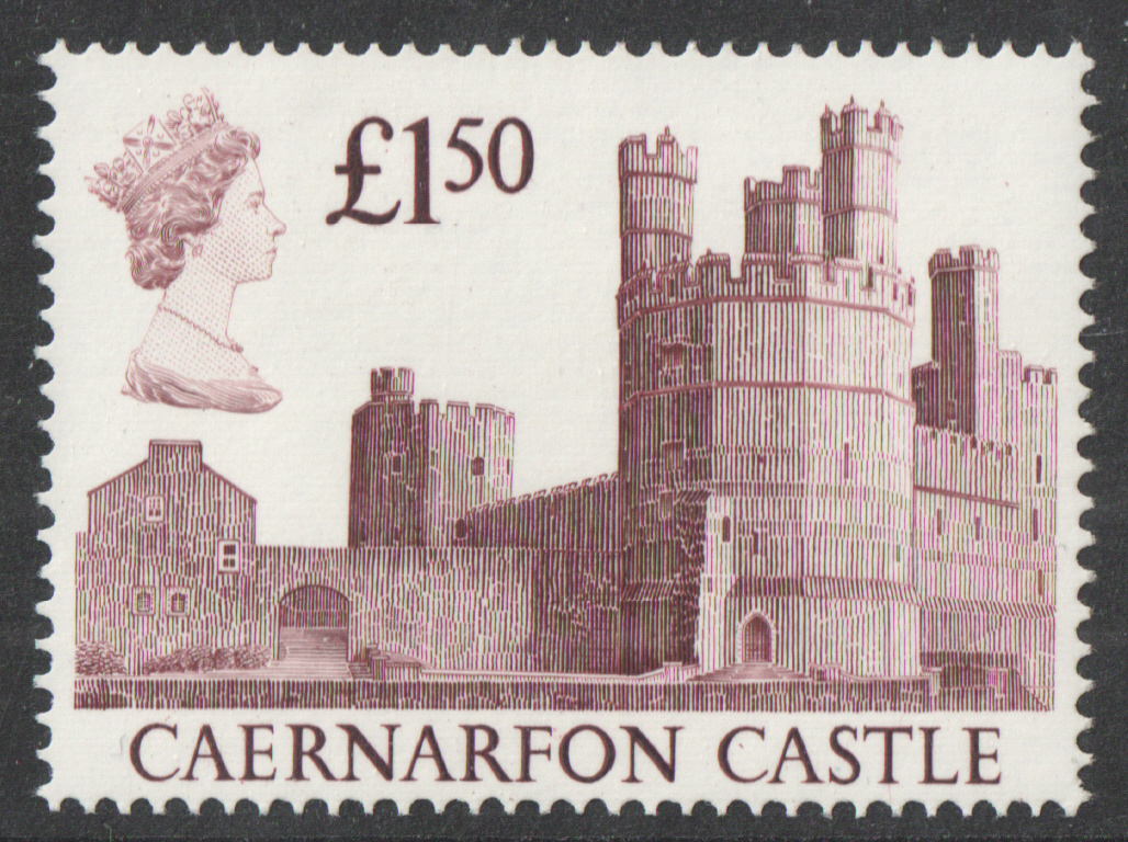 1988 Harrison Castle £1.50 Burgundy Plate 4B Block of 4