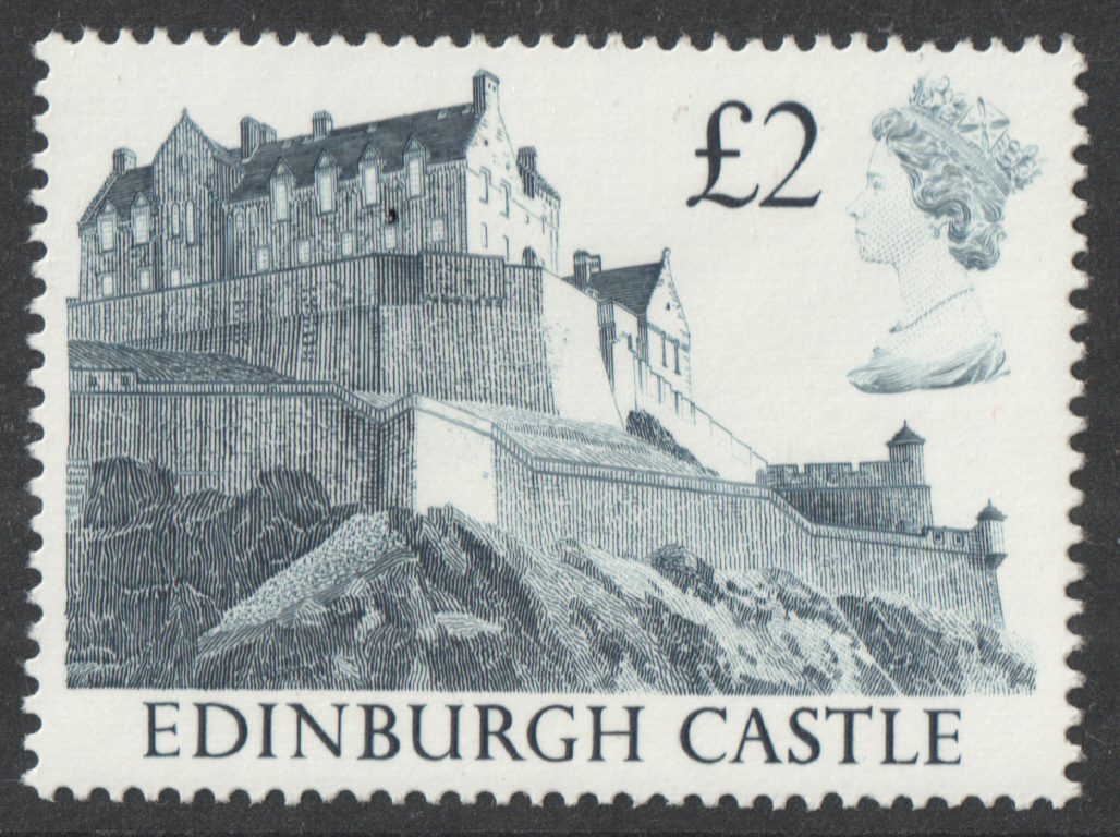 1988 Harrison Castle £2 Blue Plate 1D Block of 4