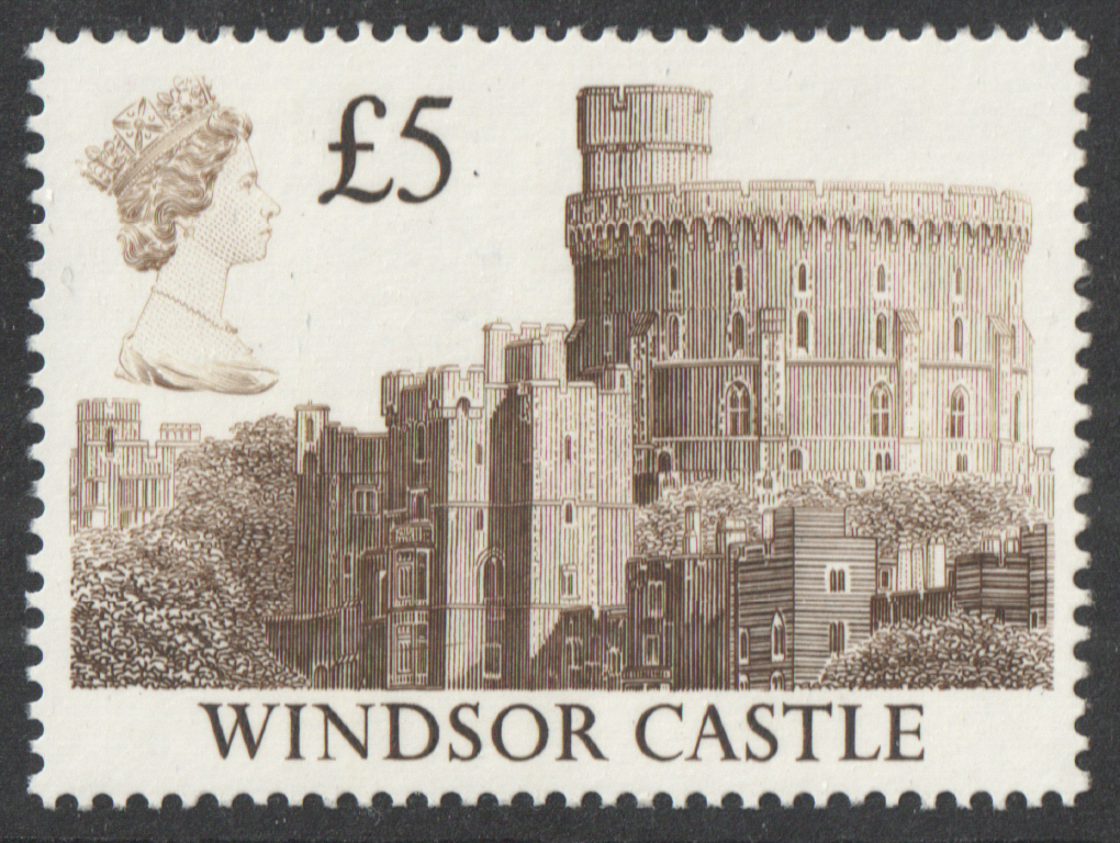 1988 Harrison Castle £5 Brown Plate 1C Block of 4