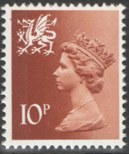 1976 Wales 10p Greyish Orange FCP(H)/DEX Cylinder 2(21) no dot block of 6