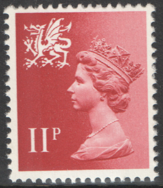 1976 Wales 11p Pastel Red FCP(H)/DEX Cylinder 1(17) no dot block of 6