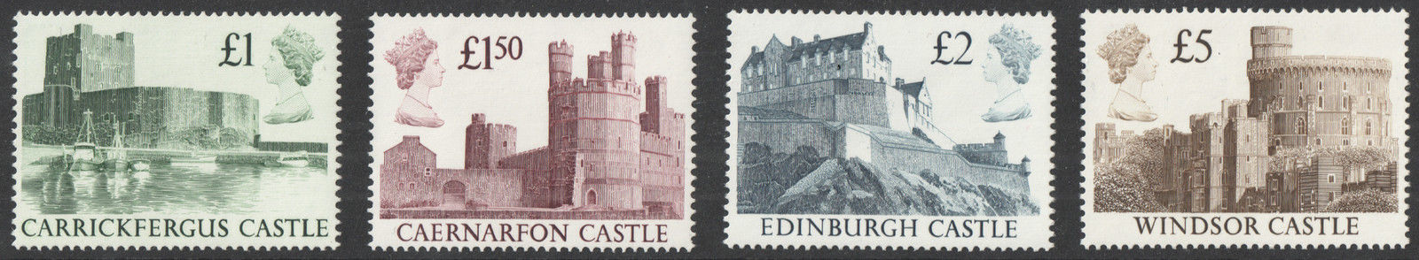 SG1410 / 13 Harrison High Value Castle Definitives Unmounted Mint Set of 4