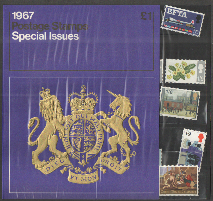 1967 Royal Mail Special Stamps Year Pack