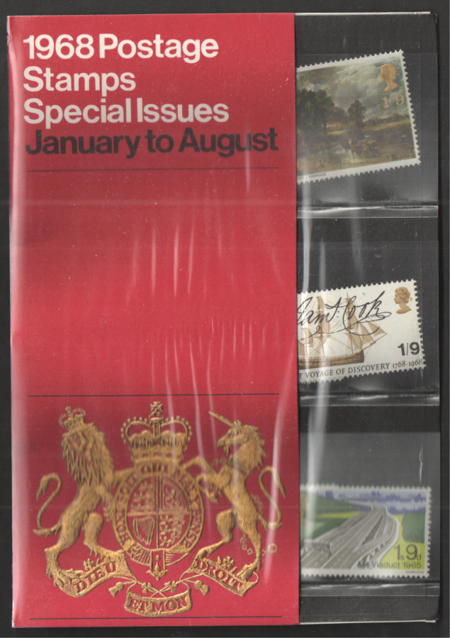 1968 Royal Mail Special Stamps Year Pack - Red