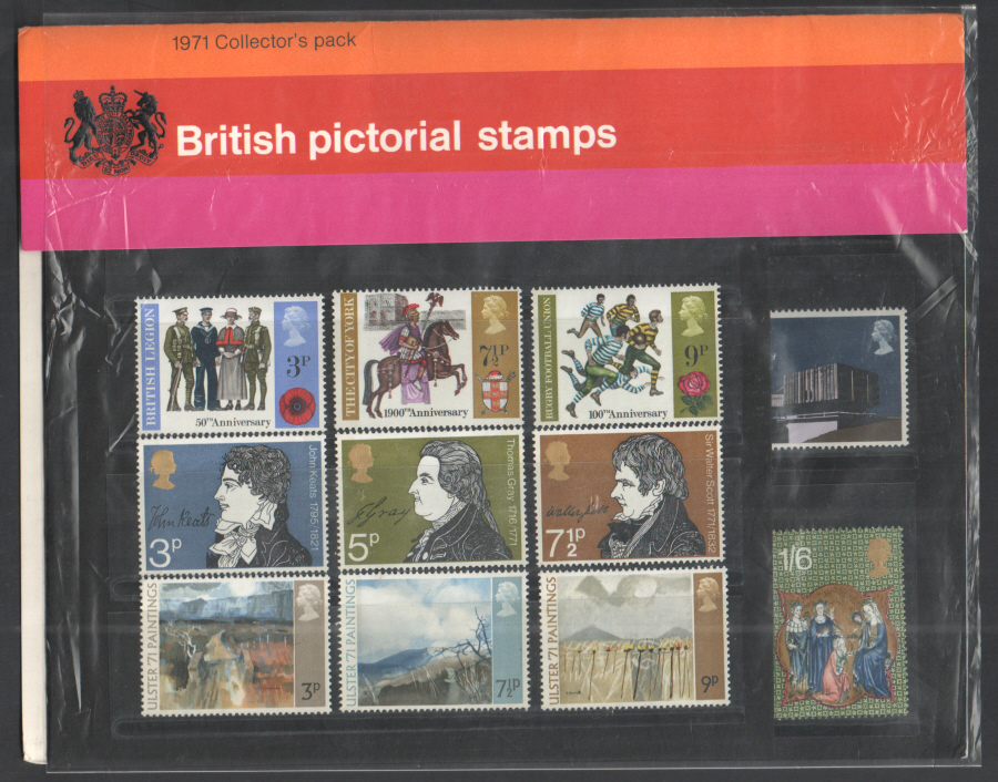 1971 Royal Mail Special Stamps Year Pack