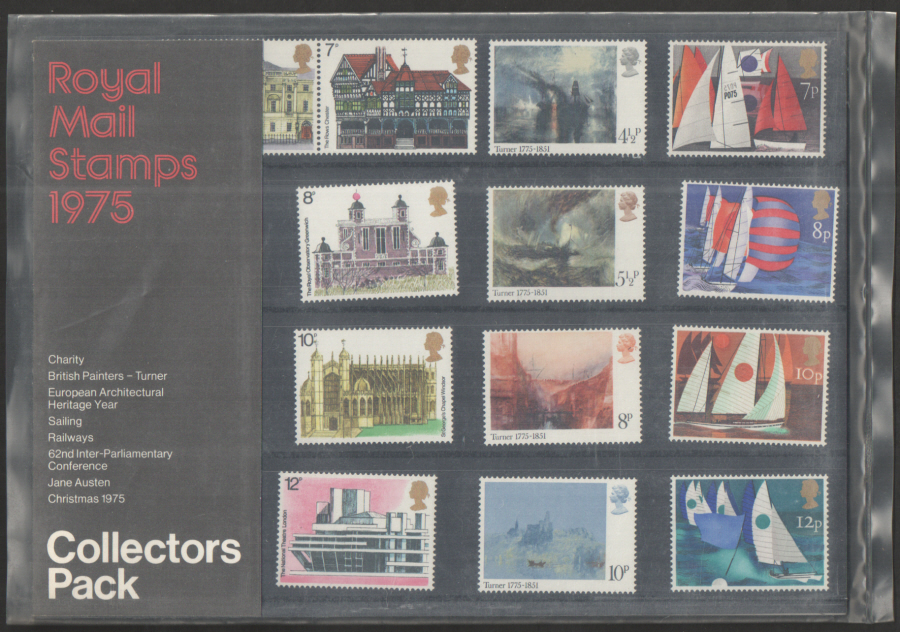 1975 Royal Mail Special Stamps Year Pack