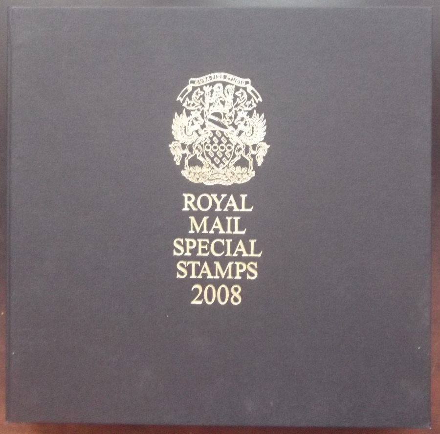 2008 Leather Bound Royal Mail Year Book. Limited Edition.