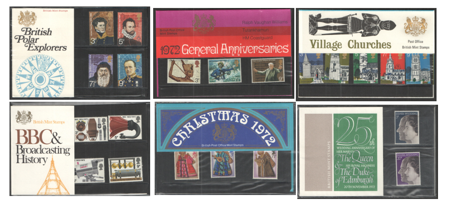 1972 Commemorative Presentation Pack Year Set