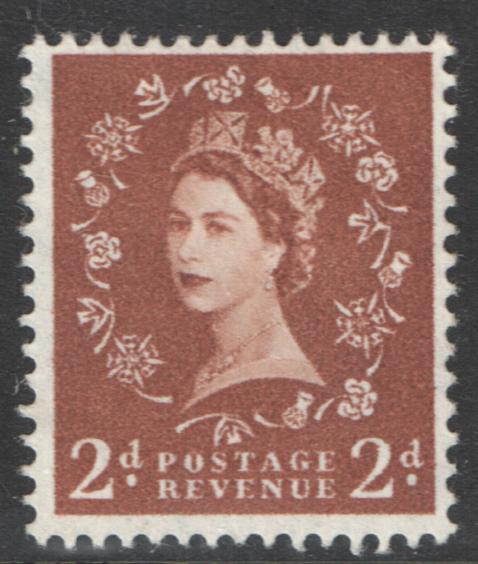 S40 2d Light Red Brown Multiple Crown Watermark Cream Paper Cylinder 22 No Dot Block of 6