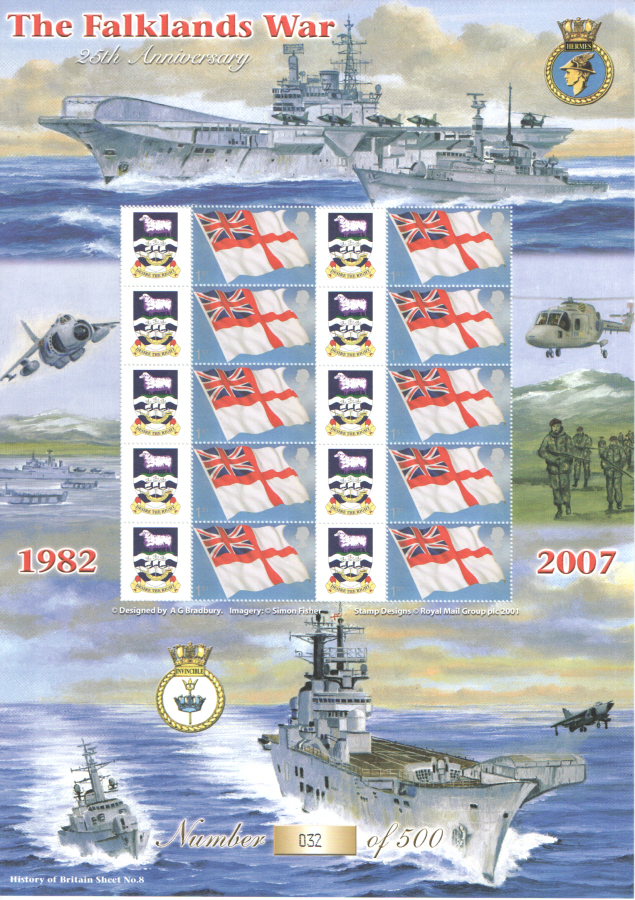 BC-104 2007 The Falklands War History of Britain 8 Business Smilers Sheet