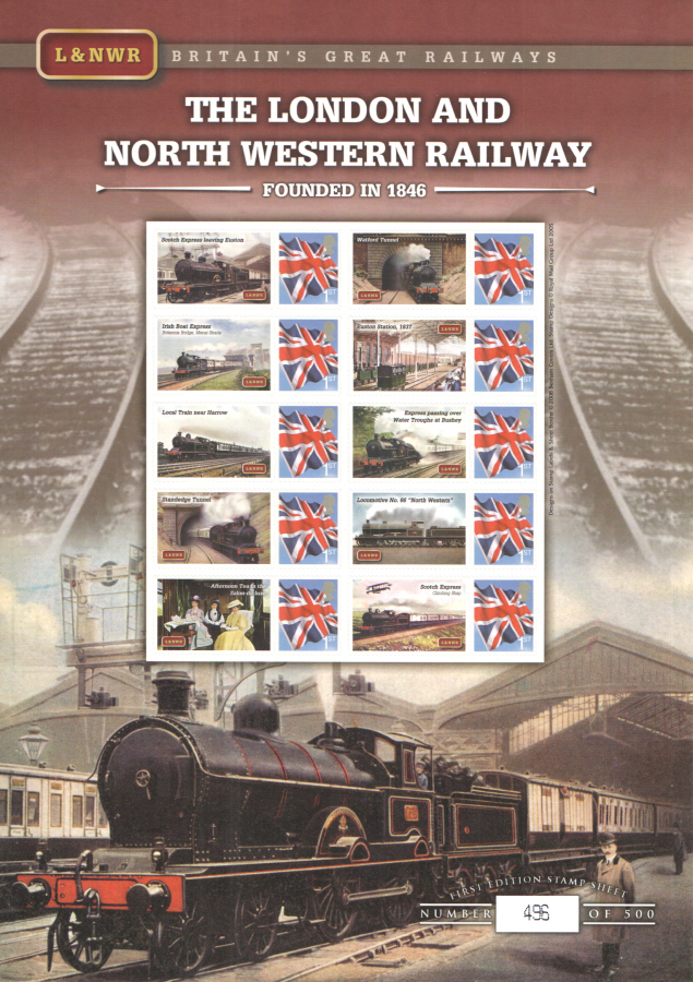 BC-186 2008 London & North Western Railway Business Smilers Sheet