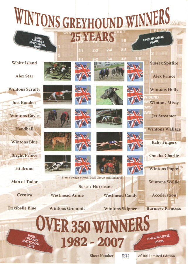 BC-187 2008 Wintons Greyhound Winners Business Smilers Sheet