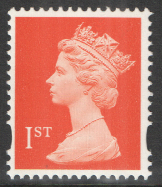 SG1667Ey Phosphor Omitted 1st Class Orange Red Machin